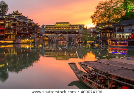 Oude stad phoenix China chinese toeristische attractie Stockfoto © dmitry_rukhlenko