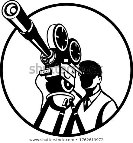 фильма директор глядя Vintage Film Reel камеры Сток-фото © patrimonio