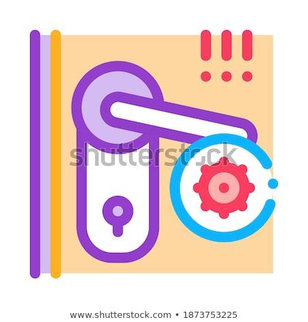 Ojo de la cerradura icono vector ilustración signo Foto stock © pikepicture