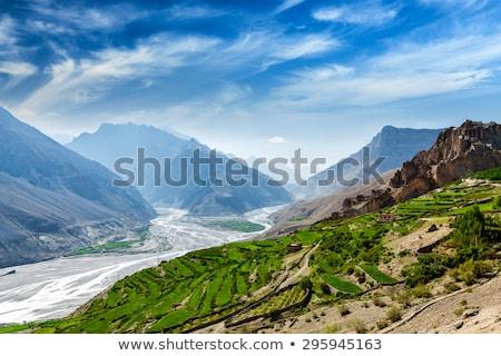 谷 ヒマラヤ山脈 インド 山 雪 山 ストックフォト © dmitry_rukhlenko