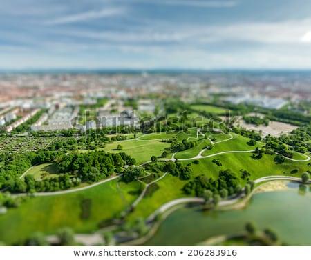 Aerial view of Olympiapark . Munich, Bavaria, Germany Stock photo © dmitry_rukhlenko
