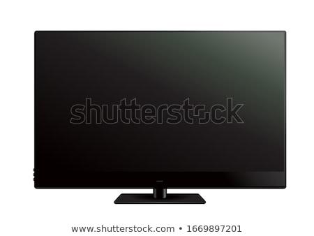 孤立した 現代 パネル テレビ 白 コンピュータ ストックフォト © Ansonstock