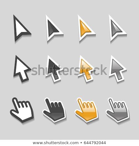 cursor · ondersteuning · witte · hand · groene - stockfoto © cla78