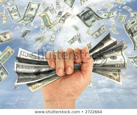 vagyon · ötlet · metafora · kéz · dollár · égbolt - stock fotó © rufous