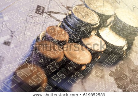 business graph with coins Stock photo © get4net