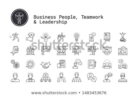 Escritório hierarquia cadeiras cadeira couro Foto stock © Ciklamen