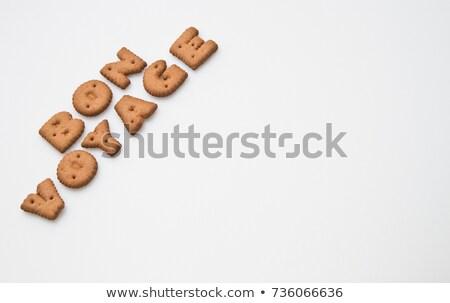 wyrażenie · brązowy · herbatniki · biały · powierzchnia - zdjęcia stock © azamshah72