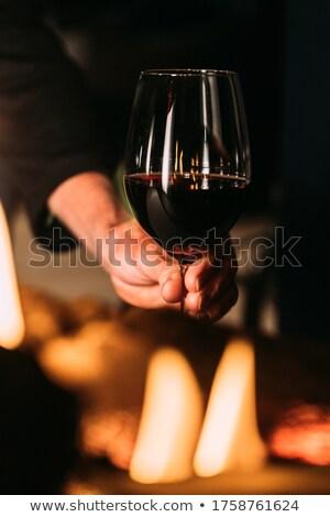 燃焼 ワイングラス 赤ワイン 難 火災 ガラス ストックフォト © pkdinkar
