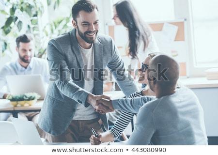 zespołu · dynamiczny · pracowników · biurowych · biuro · szczęśliwy - zdjęcia stock © photography33