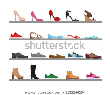 nő · szenvedély · cipők · kilátás · lábak · visel - stock fotó © dvarg