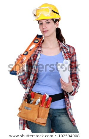 Carpenter posing with power sander Stock photo © photography33