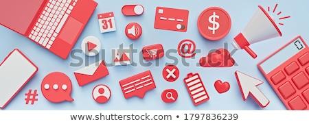 3D prestados banners coleção fita azul Foto stock © filmstroem