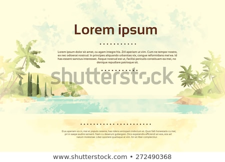 exotic beach grunge postcard stock photo © benchart