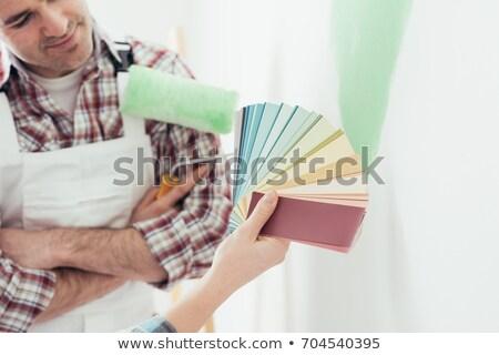 художника · цвета · рук · работу · Живопись - Сток-фото © photography33