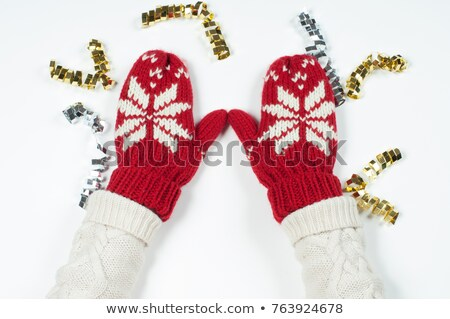 a pair of knitted wool mittens  Stock photo © RuslanOmega