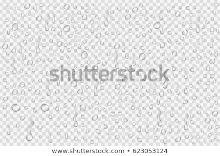 Stock photo: Blue Water Droplets Abstract