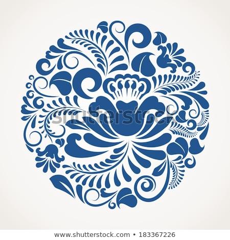 Blue ornamental round lace Stock photo © gladiolus