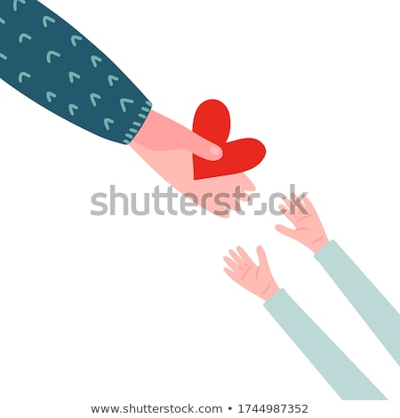 Red Heart With Label Donate Stock photo © cammep