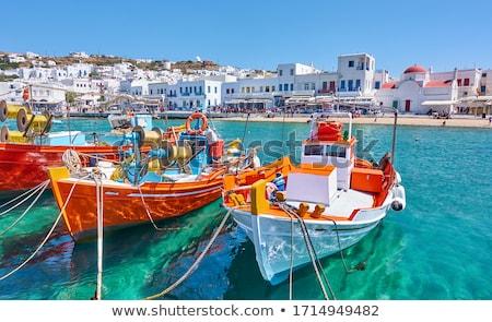 vissersboot · net · kust · oceaan · boot - stockfoto © juniart
