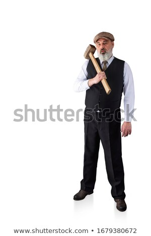 Casual man with a sledgehammer. Stock photo © photography33