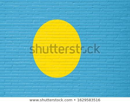 Flag of Palau on brick wall Stock photo © creisinger