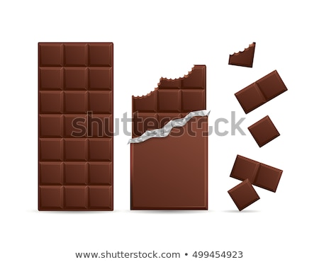 biting chocolate Stock photo © carlodapino