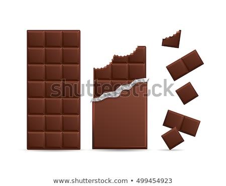 chocolate · bastante · jovem · morena · dentes - foto stock © carlodapino