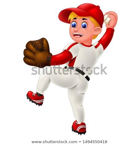Funny Baseball Player Stock photo © pcanzo