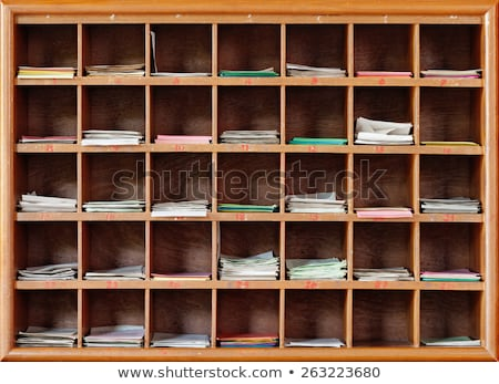 Cabinet for divination in a Buddhist temple Stock photo © pzaxe