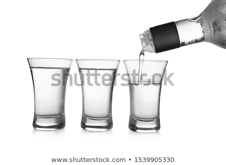 Glas wodka geïsoleerd witte beker dranken Stockfoto © Givaga