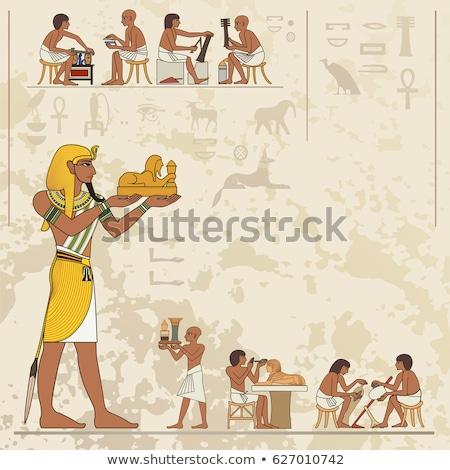 Papiro bandeira retrato África arquitetura deus Foto stock © dayzeren