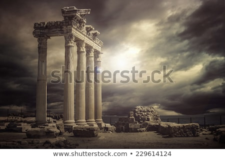 antigo · templo · ruínas · ilustração · isolado · branco - foto stock © dayzeren