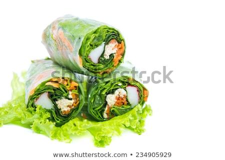 Stok fotoğraf: Yalıtılmış · pirinç · akşam · yemeği · salata · beyaz