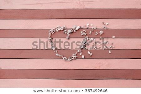 coração · carvalho · naturalismo · belo · textura · madeira - foto stock © get4net