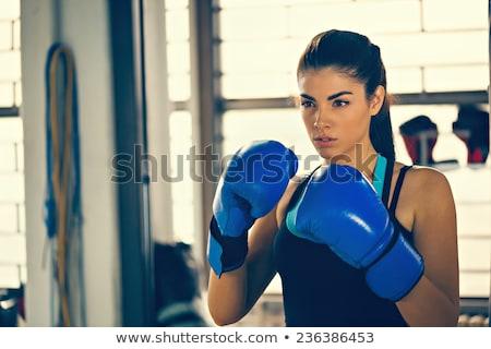 Attractive female boxer Stock photo © dash