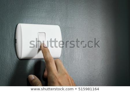 Blanche interrupteur de lumière blanc noir noir énergie sombre Photo stock © tarczas