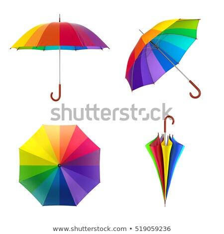 colorido · guarda-chuva · vintage · estilo · arte · Tailândia - foto stock © zmkstudio