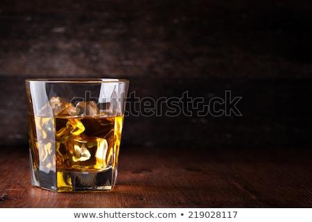 Kayalar cam viski buz beyaz Stok fotoğraf © rogerashford