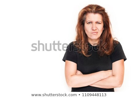Young woman is upset for some reason Stock photo © vetdoctor