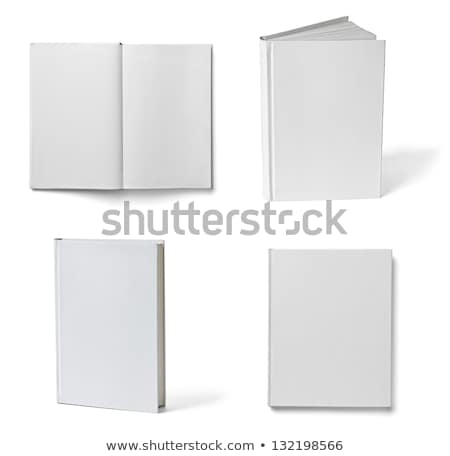 collection of various blank white books on white background with clipping path stock photo © Zhukow