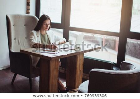 elegáns · üzletasszony · dolgozik · laptop · nő · pénz - stock fotó © photography33