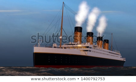 Titanic boat - 3D render Stock photo © Elenarts