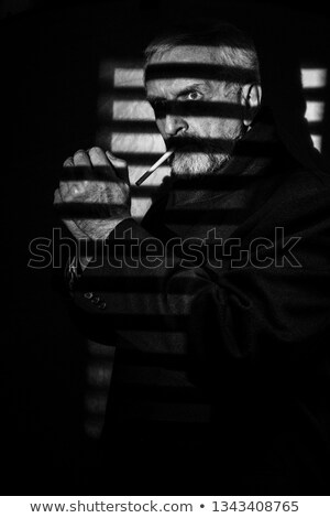 Smoking Tough & Mysterious Stock photo © eldadcarin