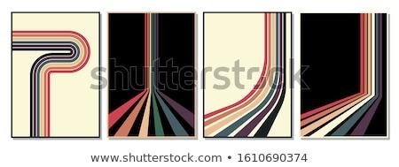 Stile retrò poster vintage raggi di sole carta texture Foto d'archivio © tintin75