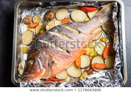Roasted Red Snapper Fish Stock photo © zhekos