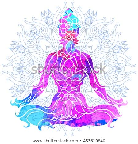 India yoga mandala Stock photo © cienpies