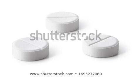 üç · yalıtılmış · beyaz · hapları · sağlık - stok fotoğraf © lunamarina