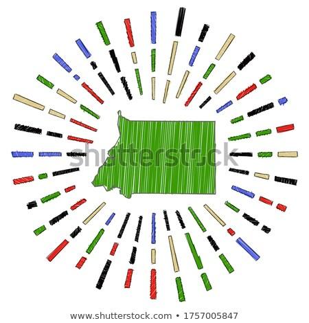 Bandeira Guiné Equatorial mão cor país estilo Foto stock © claudiodivizia
