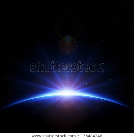 Planets with Sun Flare in Deep Space Stock photo © Discovod