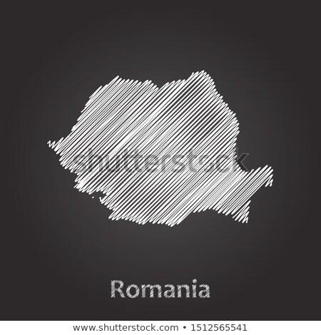 Harita Romanya tahta çizim kara tahta Stok fotoğraf © vepar5